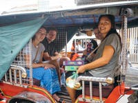 IVHQ volunteers traveling to their volunteer project in Cambodia