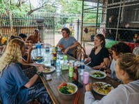 IVHQ Volunteers eating lunch in Cambodia