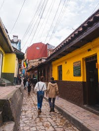 IVHQ volunteers exploring the streets of Bogota, Colombia