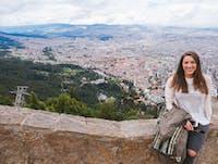 IVHQ volunteer overlooking Bogota, Colombia