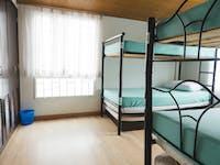 IVHQ volunteer bedroom in Colombia, Bogota