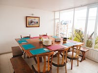 Volunteer dining room in Colombia, Bogota with IVHQ