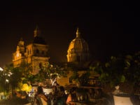 Exploring Cartagena, Colombia at night