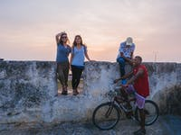 IVHQ volunteers exploring Cartagena, Colombia