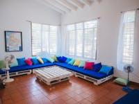 IVHQ volunteer living room in Cartagena