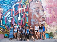 IVHQ volunteers exploring street art in Cartagena, Colombia