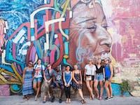 IVHQ volunteers exploring street art in Cartagena, Colombia