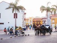 IVHQ volunteers exploring streets of Cartagena, Colombia