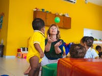 Childcare volunteer in Cartagena, Colombia with IVHQ