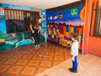 IVHQ Childcare volunteer skipping in Costa Rica
