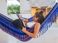 IVHQ volunteer hammocks in Santa Elena, Ecuador