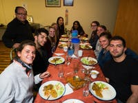 IVHQ volunteers dining in Quito, Ecuador