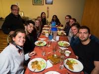 IVHQ volunteers dining in Quito, Ecuador