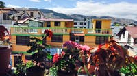 View from volunteer accommodation homestay in Ecuador