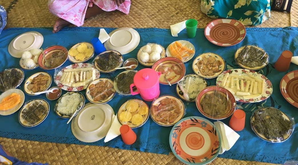 Volunteer meals in Fiji with IVHQ