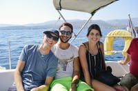 Exploring Greece by boat during an IVHQ weekend