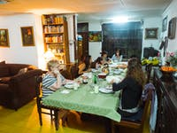IVHQ volunteers dining in Guatemala