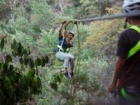 IVHQ Guatemala Zip Lining volunteers during a weekend