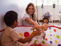 Volunteering on the childcare project in Guatemala
