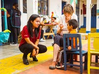 IVHQ volunteer on the childcare project in Guatemala with IVHQ