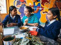 Childcare volunteer in Delhi India with IVHQ