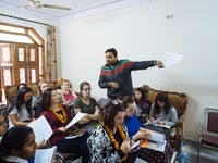 IVHQ volunteer orientation with local team in Delhi India