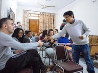 IVHQ volunteer orientation with local team in India
