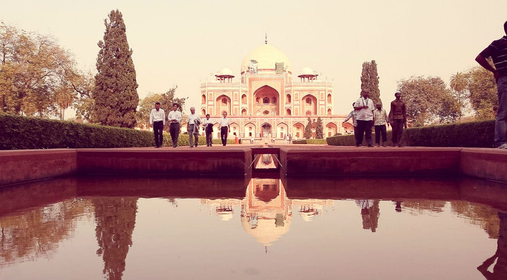 Visiting the Taj Mahal during orientation