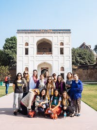 IVHQ volunteers visit Humayun's Tomb in Delhi, India