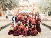 Group of IVHQ volunteers on Dharamsala Childcare Project