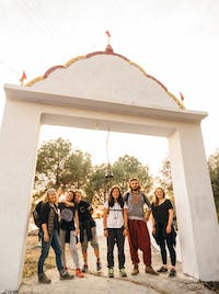 Volunteers explore Dharamsala, India during an IVHQ weekend