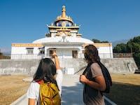 Volunteers visit Sherabling Monastery in Dharamsala, India