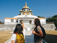 Volunteers visit Sherabling Monastery in Dharamsala, India