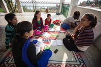 Group of IVHQ volunteers on Dharamsala Teaching Project