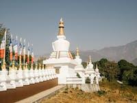 Volunteers visit Sherabling Monastery in Dharamsala