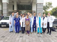 Group of IVHQ Medical volunteers in India Kerala