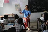 IVHQ volunteer on Kerala Kindergarten Project