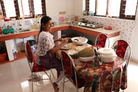 Volunteer house kitchen in India Kerala