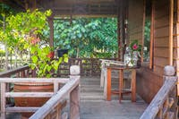 IVHQ Island Conservation accommodation balcony in Indonesia
