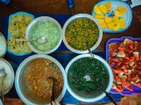 Homestay meal in Kenya