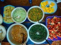 Homestay meal in Kenya