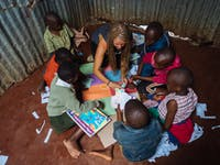 IVHQ childcare volunteer in Kenya