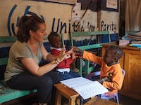 IVHQ Special Needs volunteer in Kenya with IVHQ