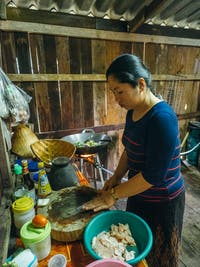 Volunteer house kitchen in Laos with IVHQ