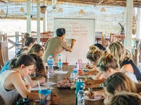 Volunteer language lesson in Laos with IVHQ