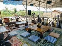 Volunteer house living room in Laos with IVHQ