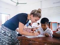 Volunteer teachers in Laos with IVHQ