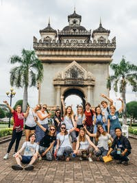 A group of IVHQ volunteers visit Vientiane, Laos during the weekend