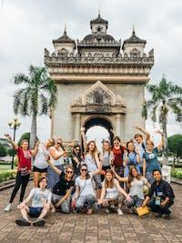 A group of IVHQ volunteers visit Vientiane, Laos during the weekend