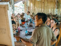 IVHQ volunteer language lesson in Laos